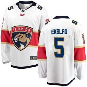 Youth Florida Panthers Aaron Ekblad Fanatics Branded Breakaway Away Jersey - White