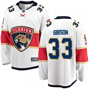 Youth Florida Panthers Christopher Gibson Fanatics Branded Breakaway Away Jersey - White