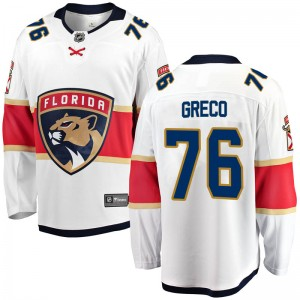 Youth Florida Panthers Anthony Greco Fanatics Branded Breakaway Away Jersey - White