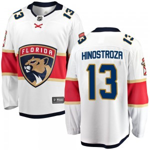 Youth Florida Panthers Vinnie Hinostroza Fanatics Branded Breakaway Away Jersey - White