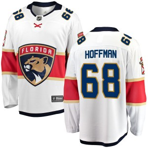 Youth Florida Panthers Mike Hoffman Fanatics Branded Breakaway Away Jersey - White