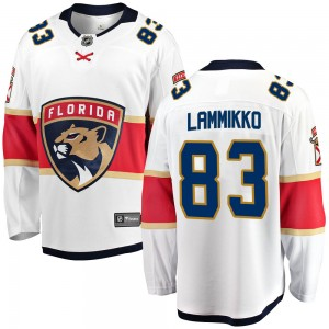 Youth Florida Panthers Juho Lammikko Fanatics Branded Breakaway Away Jersey - White