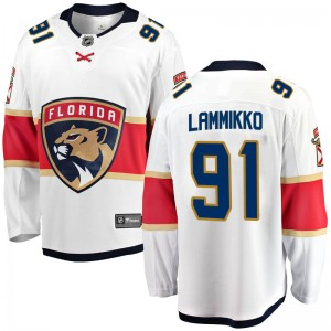 Youth Florida Panthers Juho Lammikko Fanatics Branded Breakaway Away Jersey - White