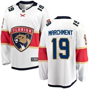 Youth Florida Panthers Mason Marchment Fanatics Branded Breakaway Away Jersey - White