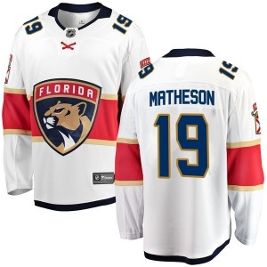 Youth Florida Panthers Michael Matheson Fanatics Branded Breakaway Away Jersey - White