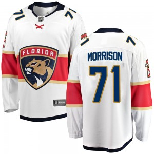 Youth Florida Panthers Brad Morrison Fanatics Branded Breakaway Away Jersey - White