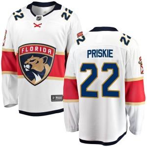 Youth Florida Panthers Chase Priskie Fanatics Branded Breakaway Away Jersey - White