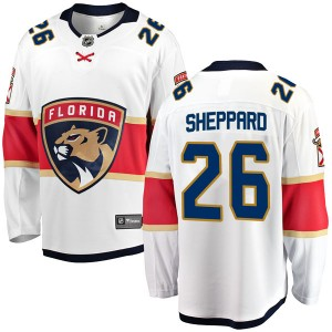 Youth Florida Panthers Ray Sheppard Fanatics Branded Breakaway Away Jersey - White