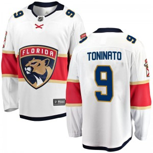 Youth Florida Panthers Dominic Toninato Fanatics Branded Breakaway Away Jersey - White