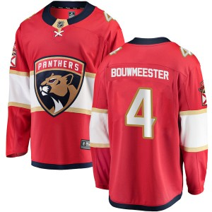 Youth Florida Panthers Jay Bouwmeester Fanatics Branded Breakaway Home Jersey - Red