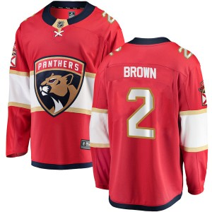 Youth Florida Panthers Josh Brown Fanatics Branded Breakaway Home Jersey - Red