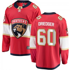 Youth Florida Panthers Chris Driedger Fanatics Branded Breakaway Home Jersey - Red