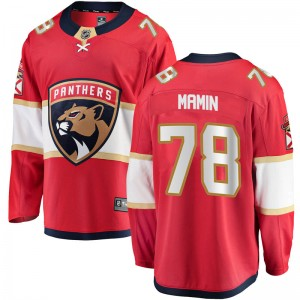 Youth Florida Panthers Maxim Mamin Fanatics Branded Breakaway Home Jersey - Red