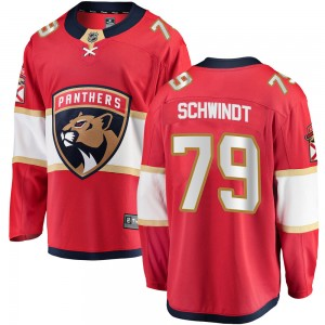 Youth Florida Panthers Cole Schwindt Fanatics Branded Breakaway Home Jersey - Red