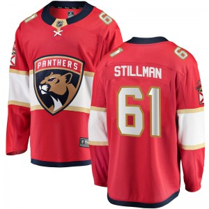 Youth Florida Panthers Riley Stillman Fanatics Branded Breakaway Home Jersey - Red