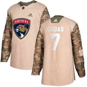 Youth Florida Panthers Radko Gudas Adidas Authentic Veterans Day Practice Jersey - Camo