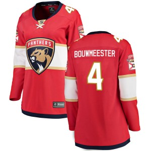 Women's Florida Panthers Jay Bouwmeester Fanatics Branded Breakaway Home Jersey - Red