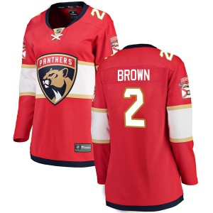 Women's Florida Panthers Josh Brown Fanatics Branded Breakaway Home Jersey - Red