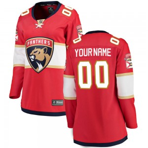 Women's Florida Panthers Custom Fanatics Branded ized Breakaway Home Jersey - Red