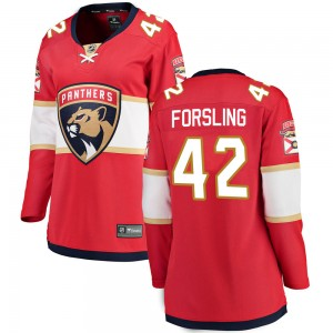 Women's Florida Panthers Gustav Forsling Fanatics Branded Breakaway Home Jersey - Red