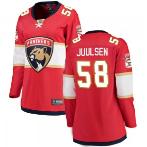 Women's Florida Panthers Noah Juulsen Fanatics Branded Breakaway Home Jersey - Red