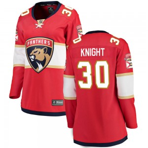 Women's Florida Panthers Spencer Knight Fanatics Branded Breakaway Home Jersey - Red