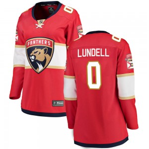 Women's Florida Panthers Anton Lundell Fanatics Branded Breakaway Home Jersey - Red