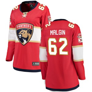 Women's Florida Panthers Denis Malgin Fanatics Branded Breakaway Home Jersey - Red