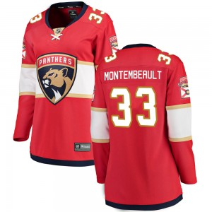 Women's Florida Panthers Sam Montembeault Fanatics Branded Breakaway Home Jersey - Red