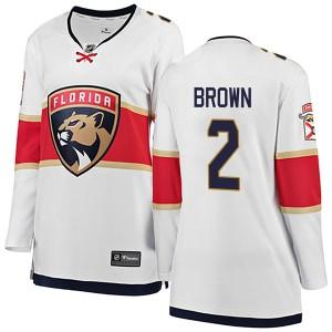 Women's Florida Panthers Josh Brown Fanatics Branded Breakaway Away Jersey - White