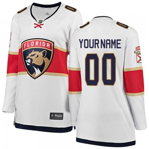 Women's Florida Panthers Custom Fanatics Branded ized Breakaway Away Jersey - White