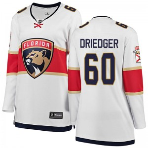 Women's Florida Panthers Chris Driedger Fanatics Branded Breakaway Away Jersey - White
