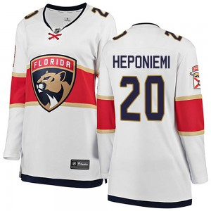 Women's Florida Panthers Aleksi Heponiemi Fanatics Branded Breakaway Away Jersey - White