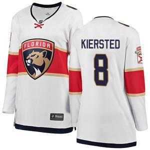 Women's Florida Panthers Matt Kiersted Fanatics Branded Breakaway Away Jersey - White