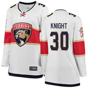 Women's Florida Panthers Spencer Knight Fanatics Branded Breakaway Away Jersey - White