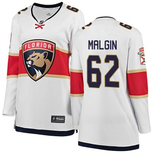 Women's Florida Panthers Denis Malgin Fanatics Branded Breakaway Away Jersey - White