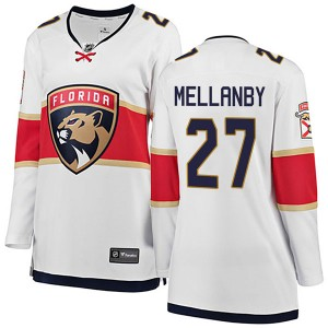 Women's Florida Panthers Scott Mellanby Fanatics Branded Breakaway Away Jersey - White
