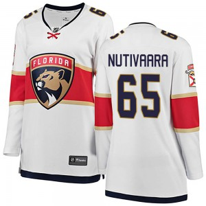 Women's Florida Panthers Markus Nutivaara Fanatics Branded Breakaway Away Jersey - White