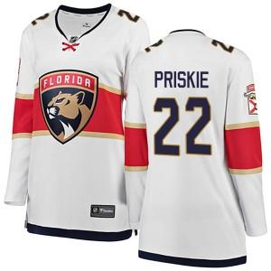Women's Florida Panthers Chase Priskie Fanatics Branded Breakaway Away Jersey - White