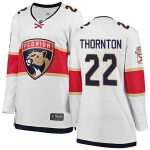 Women's Florida Panthers Shawn Thornton Fanatics Branded Breakaway Away Jersey - White