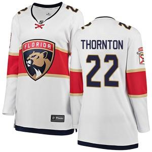 Women's Florida Panthers Shawn Thornton Fanatics Branded Breakaway Away Jersey - White