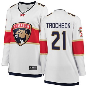 Women's Florida Panthers Vincent Trocheck Fanatics Branded Breakaway Away Jersey - White