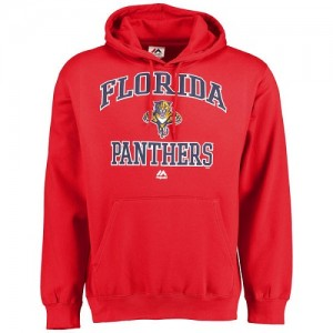Men's Florida Panthers Majestic Heart & Soul Hoodie - - Red