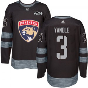 Men's Florida Panthers Keith Yandle Adidas Authentic 1917-2017 100th Anniversary Jersey - Black