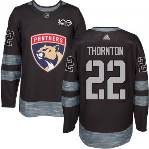 Men's Florida Panthers Shawn Thornton Adidas Authentic 1917-2017 100th Anniversary Jersey - Black