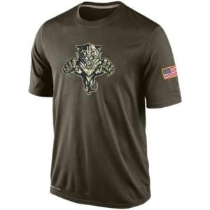 Men's Florida Panthers Nike Salute To Service KO Performance Dri-FIT T-Shirt - Olive