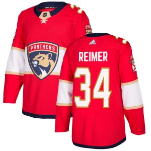 Men's Florida Panthers James Reimer Adidas Authentic Jersey - Red