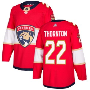 Men's Florida Panthers Shawn Thornton Adidas Authentic Jersey - Red