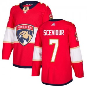 Youth Florida Panthers Colton Sceviour Adidas Authentic Home Jersey - Red