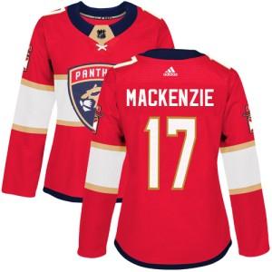 Women's Florida Panthers Derek Mackenzie Adidas Authentic Derek MacKenzie Home Jersey - Red